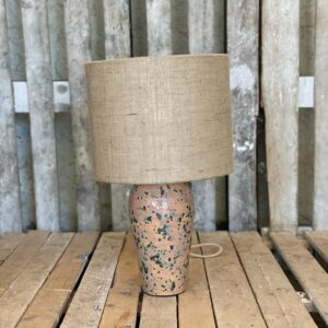 Lampstand with hessian drum
